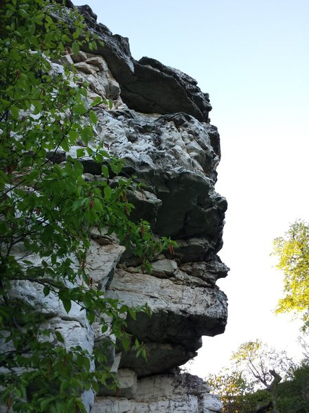 Rock Climbing Photo: The area to the right including the obvious nose i...