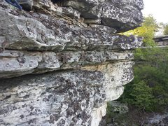 Rock Climbing Photo: Another view to the right (north) of the climb wit...