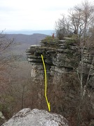 Rock Climbing Photo: A view from the North side across the footbridge