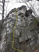 Rock Climbing Photo: The view from the north side of the Big Schloss fr...