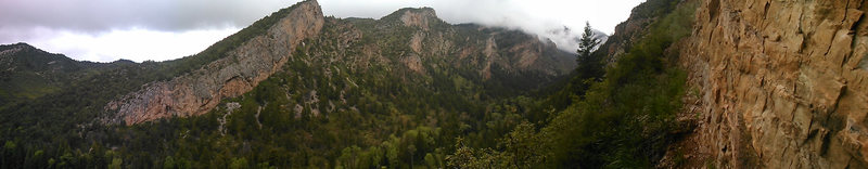 Rock Climbing Photo: panorama of Hogwarts and east elk from the Distill...