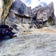 "Rock Climbing Photo: Great view and position in the ""niche"" b..."