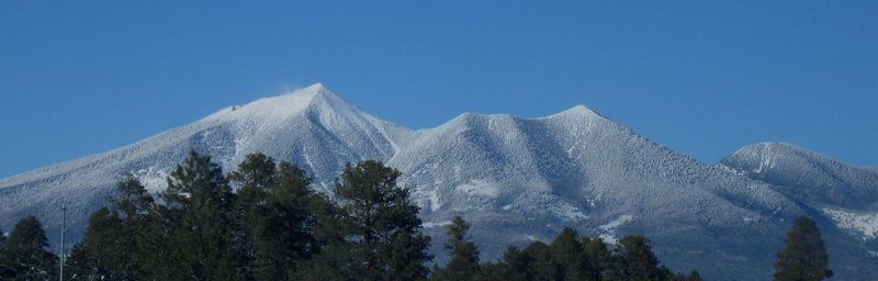 The San Francisco Peaks.