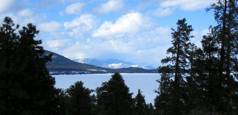 The San Francisco Peaks, from Mormon Lake.