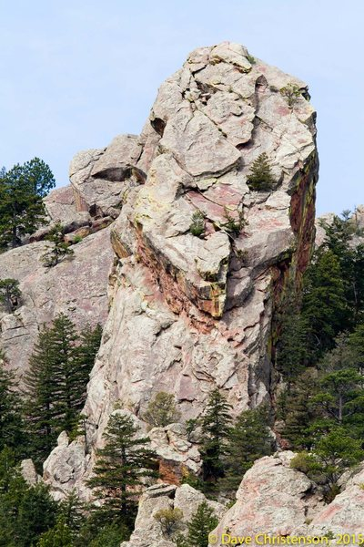 E Face of the Backporch from the saddle W of the NCAR water tank.