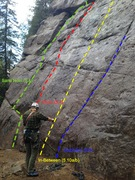 Rock Climbing Photo: Start of the route.   Slippery when wet but dries ...