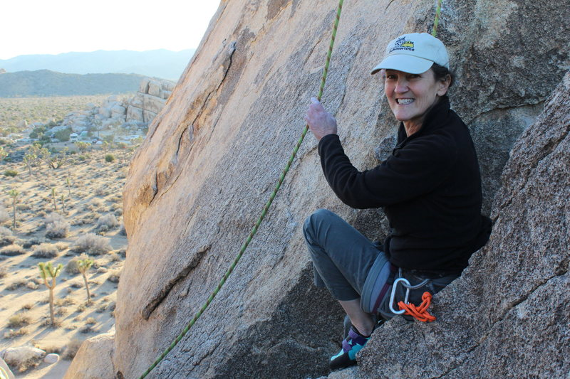 All smiles after climbing Cryptic.