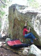Rock Climbing Photo: Sean flashing The Bottom Falls Out