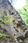 Rock Climbing Photo: Myself leading this fun route.