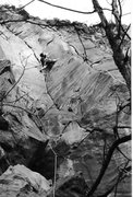 Rock Climbing Photo: Onsighting Spite and Malice 1998, on my first trip...