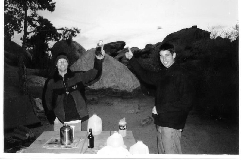Eric Zschiesche and I a long time ago in J Tree....