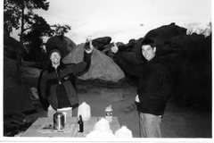 Rock Climbing Photo: Eric Zschiesche and I a long time ago in J Tree......