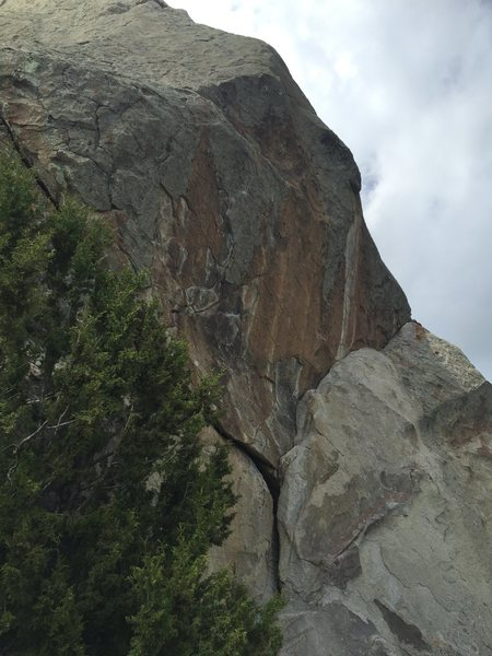 Rock Climbing Photo: Looking up and the short sweet goodness