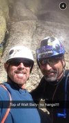 Rock Climbing Photo: My trusted Belayer Leigh- after my send of Walt!