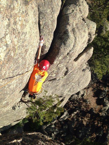 Rock Climbing Photo: Kayleb getting it done!!