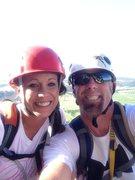 Rock Climbing Photo: Tara and I on the Tower