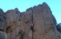 Rock Climbing Photo: Kayleb on the second!!