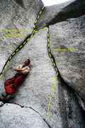 Rock Climbing Photo: The Hack-Attack at the base of Handeater.  Handeat...