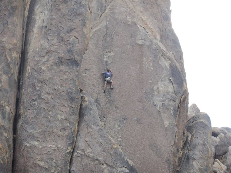 "On ""Slab Route."" ""Mustafa"" is to the right (the blank part)."