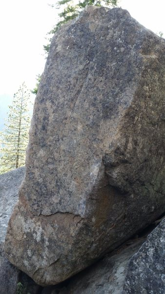 The Pickle boulder.  The problem itself faces east.