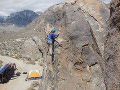 "Rock Climbing Photo: Cruxing on  ""Tootsie Pop."""