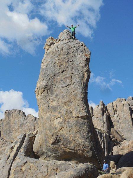 "Rock Climbing Photo: Celebrating on the summit of the ""Burnt Penis..."