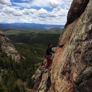 Rock Climbing Photo: :) great lead