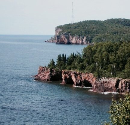 Palisade ahead from Shovel Point, MN.