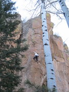 Rock Climbing Photo: Helen Padilla gets the first female ascent of Pitb...