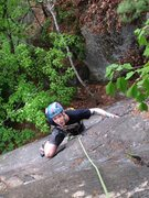 Rock Climbing Photo: Jeremy on pitch 1