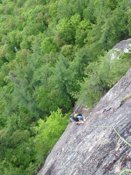 Rock Climbing Photo: Jeremy starting up pitch 4
