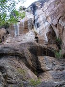 Rock Climbing Photo: Top Kill is on the left to high arching crack. Tru...