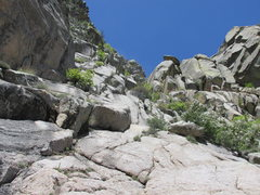 Rock Climbing Photo: Lower portion of the route from a location just hi...