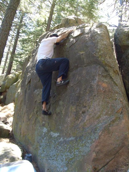 Rock Climbing Photo: Immaculate Incut boulder