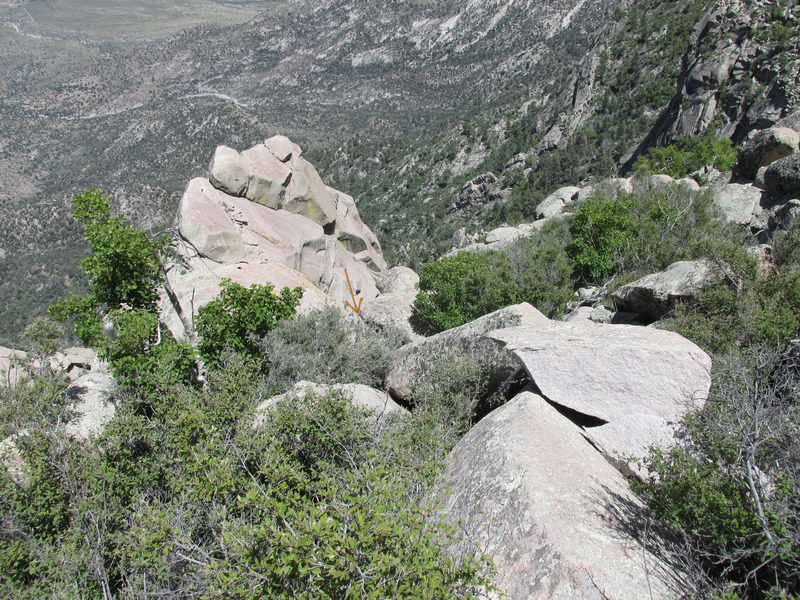 Rock Climbing Photo: Location of a good, clean rap line. Single 60m rop...