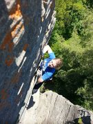 Rock Climbing Photo: 2nd pitch of Bedtime for Bonzo