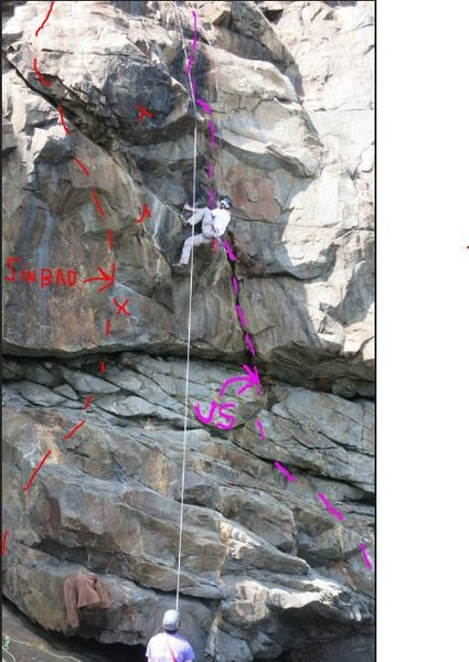New route / variation at the Left Wall of Great Head, Acadia?