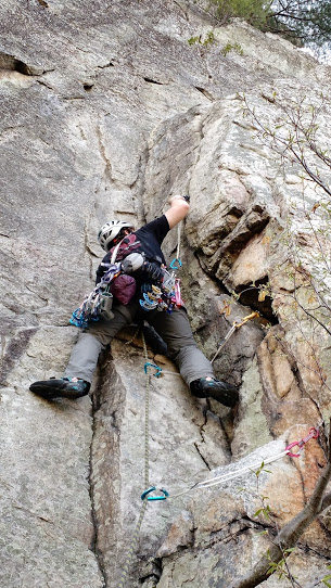 Rock Climbing Photo: starting up Front C