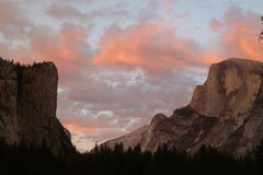 Rock Climbing Photo: Sunset on Washington Column and Half Dome