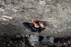Rock Climbing Photo: Steep slab, great route!