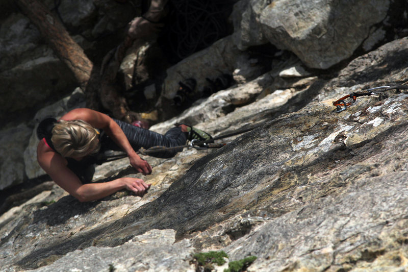 Rock Climbing Photo: Opening moves