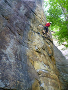 Rock Climbing Photo: Tom Miller on the lower section of the route.