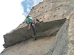 Rock Climbing Photo: Over Easy, 5.7. Middle Spire.
