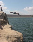 Rock Climbing Photo: Lake Georgetown TX DWS Descent...