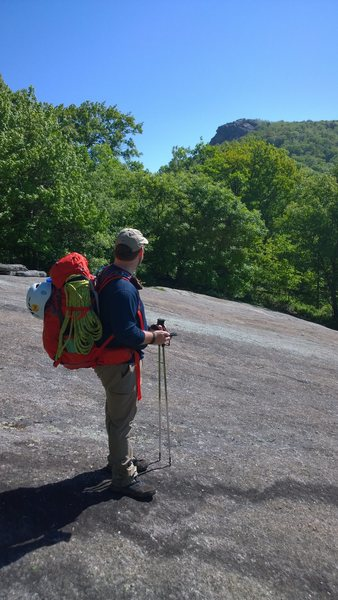 Rock Climbing Photo: Crossing slabs on approach from the south.  Rocks ...