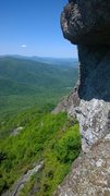 Rock Climbing Photo: View north from the belay at the top of P1 on &quo...