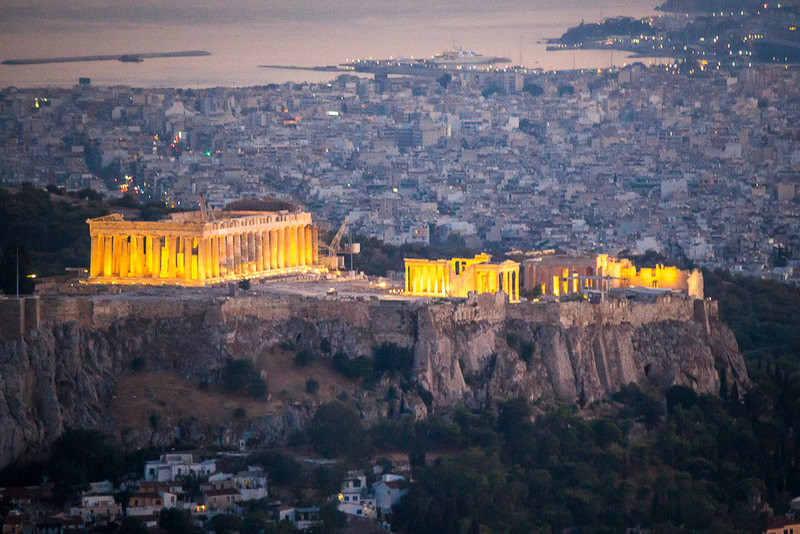 There is climbing south of the Acropolis at Filopappos Hill