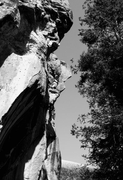 Rock Climbing Photo: JJ on Burning Point 5.12, Peaks Crag, AZ