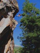 Rock Climbing Photo: Lowering off
