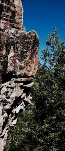 JJ on Burning Point, Peaks Crag, AZ